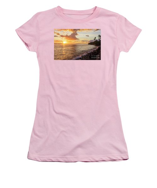 Lahaina Sunset Women's T-Shirt (Athletic Fit)
