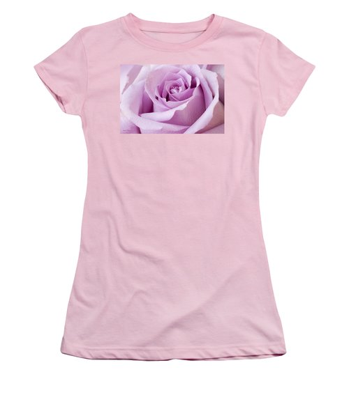 Lavender Rose Just About Perfect  Women's T-Shirt (Junior Cut) by Sandra Foster