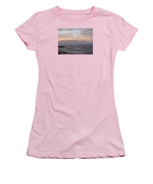 Lighthouse Peach Sunset Women's T-Shirt (Athletic Fit)