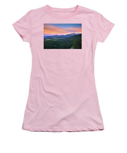 Longs Peak Sunset Women's T-Shirt (Junior Cut)