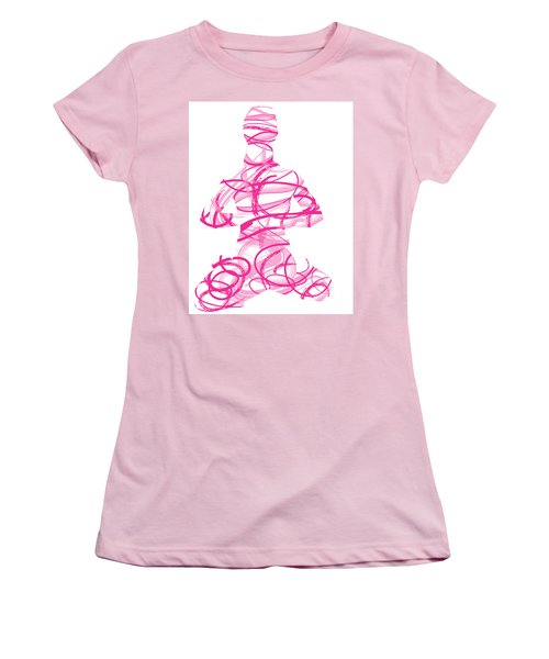 Yoga Pose Asana Lotus Pose Women's T-Shirt (Athletic Fit)