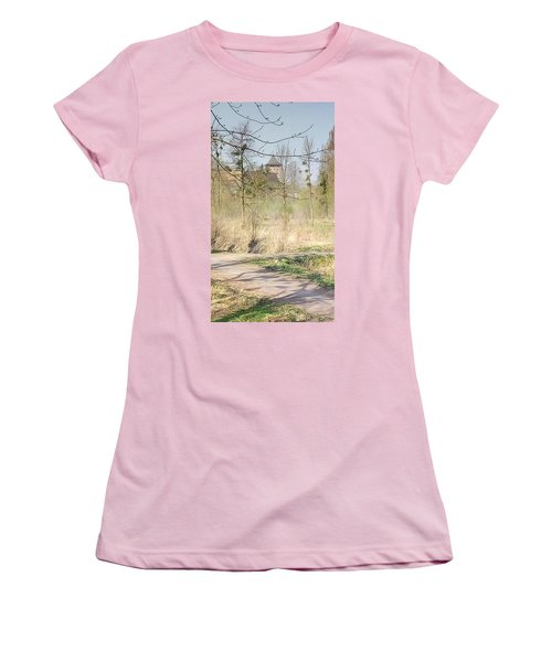 Lubart Castle Women's T-Shirt (Athletic Fit)