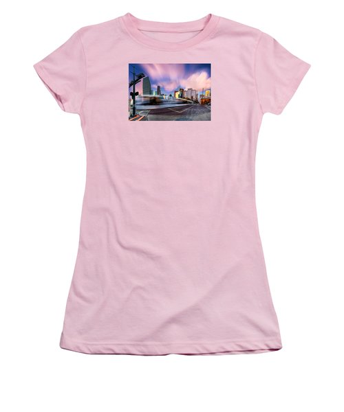 Main And Bell St Downtown Houston Texas Women's T-Shirt (Athletic Fit)