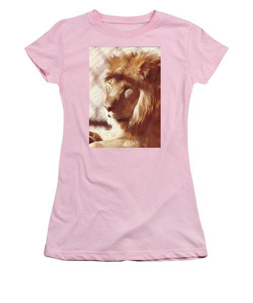 Majestic Lion Women's T-Shirt (Junior Cut) by Margaret Harmon