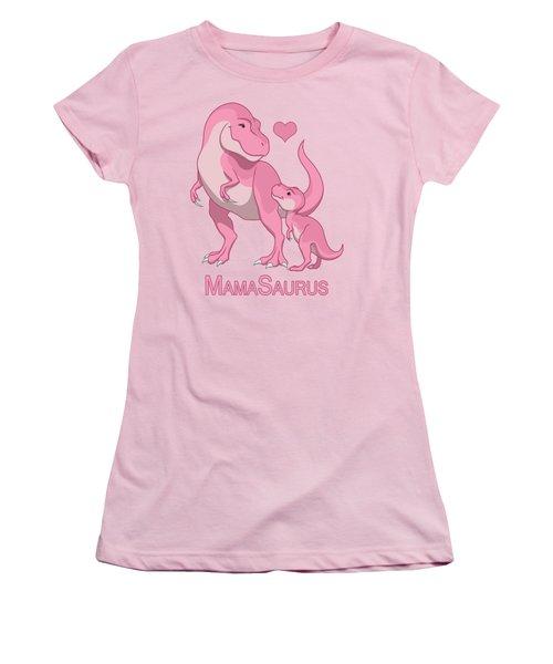 Mama Tyrannosaurus Rex Baby Girl Women's T-Shirt (Athletic Fit)