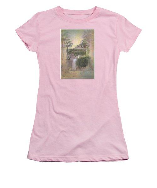 Women's T-Shirt (Junior Cut) featuring the digital art Mandalay Bay by Christina Lihani