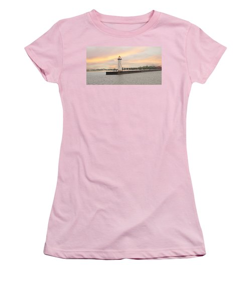 Manistee North Pierhead Lighthouse Women's T-Shirt (Athletic Fit)