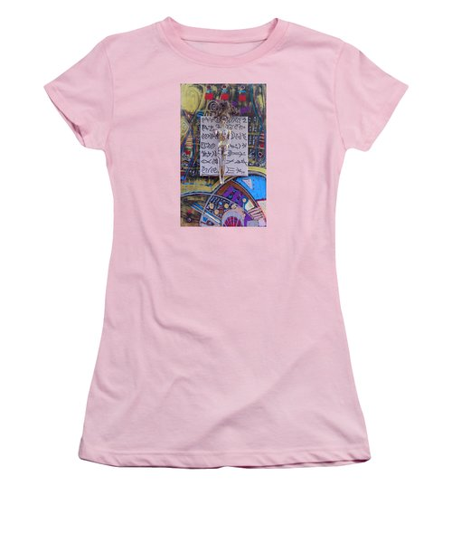 Women's T-Shirt (Athletic Fit) featuring the painting Marshmallow Herbal Tincture by Clarity Artists
