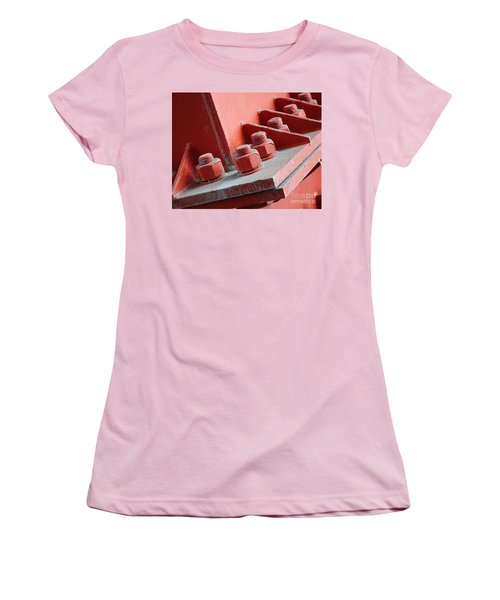 Women's T-Shirt (Athletic Fit) featuring the photograph Massive Bolts And Nuts by Yali Shi