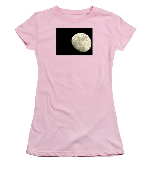 Women's T-Shirt (Junior Cut) featuring the photograph Me And The Moon Tonight by Nikki McInnes