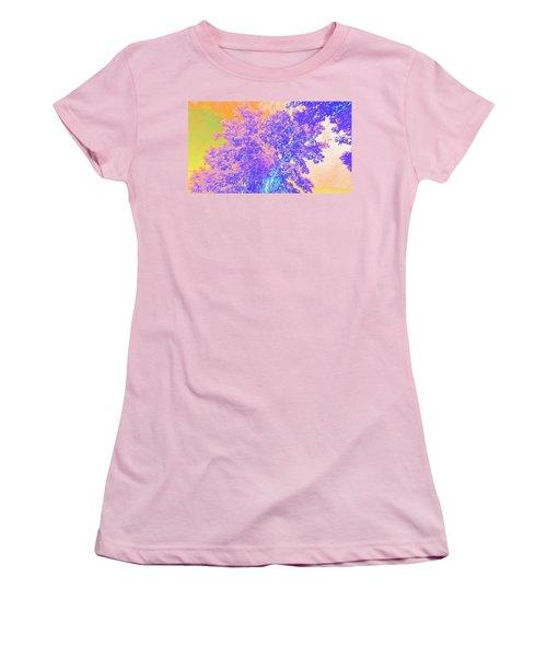 Mighty Oak Abstract Women's T-Shirt (Junior Cut) by Mike Breau