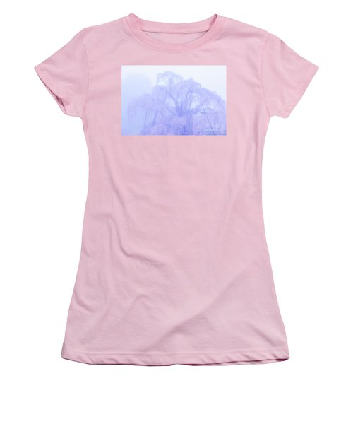 Women's T-Shirt (Junior Cut) featuring the photograph Miharu Takizakura Weeping Cherry01 by Tatsuya Atarashi