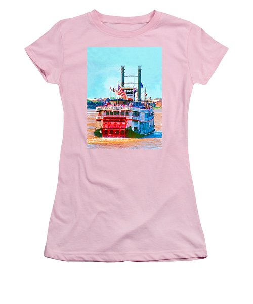 Mississippi Steamboat Women's T-Shirt (Athletic Fit)