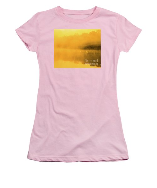 Women's T-Shirt (Athletic Fit) featuring the photograph Misty Gold by Tatsuya Atarashi