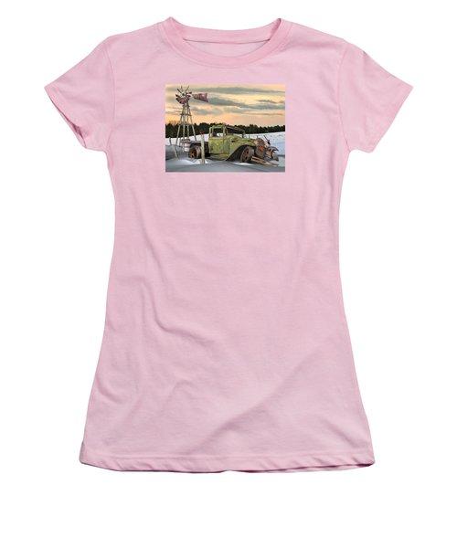 Women's T-Shirt (Junior Cut) featuring the digital art Model A Flatbed by Stuart Swartz