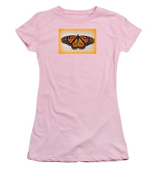 Women's T-Shirt (Junior Cut) featuring the photograph Monarch Beauty by Lew Davis
