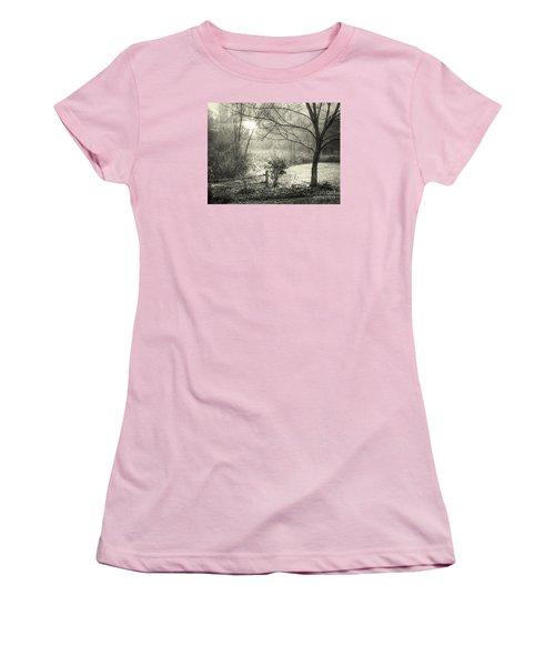 Women's T-Shirt (Junior Cut) featuring the photograph Morning Breaking by Betsy Zimmerli