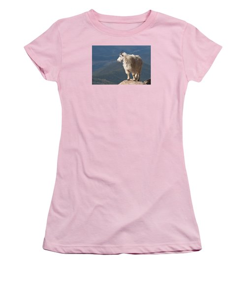 Women's T-Shirt (Junior Cut) featuring the photograph Mountain Goat by Gary Lengyel