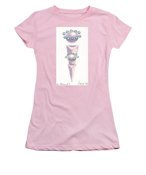 Women's T-Shirt (Junior Cut) featuring the drawing My Planet X's 2 by Rod Ismay