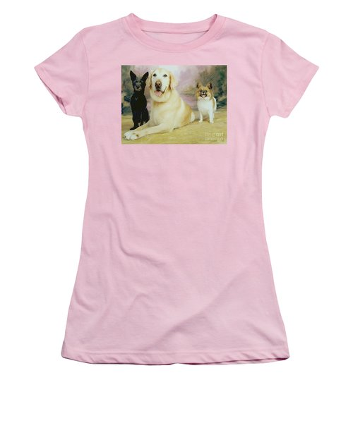 My Son's Three Dogs Women's T-Shirt (Athletic Fit)