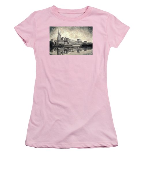 Nashville Skyline II Women's T-Shirt (Junior Cut) by Janet King