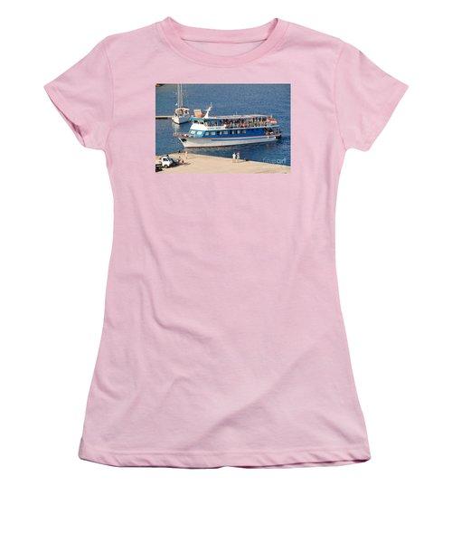 Nikos Express Ferry At Halki Women's T-Shirt (Athletic Fit)