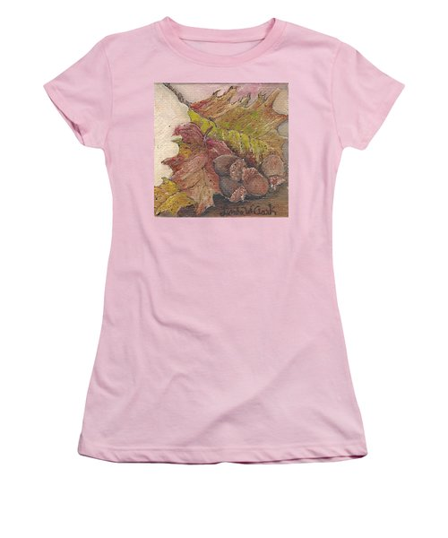 Oak Leaves Women's T-Shirt (Athletic Fit)