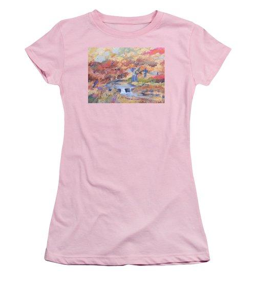 October Walk Women's T-Shirt (Athletic Fit)