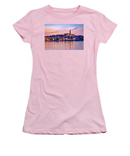 Old Mediterranean Town Of Betina Sunset View Women's T-Shirt (Junior Cut) by Brch Photography