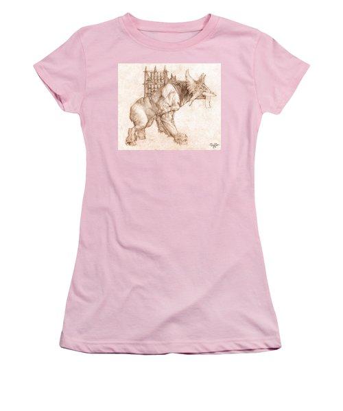 Oliphaunt Women's T-Shirt (Junior Cut) by Curtiss Shaffer