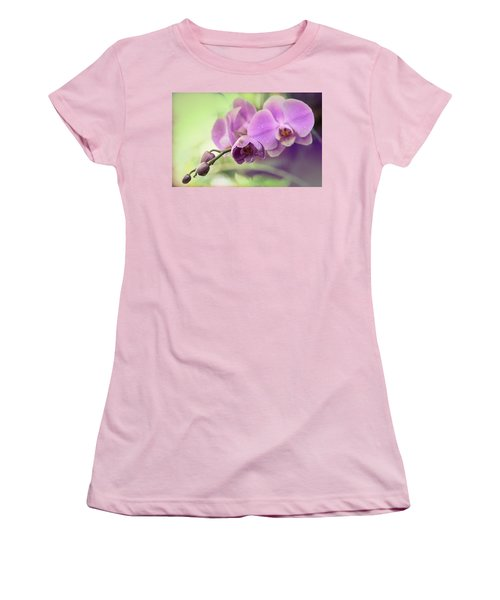 Women's T-Shirt (Junior Cut) featuring the photograph Orchids by Cathy Donohoue