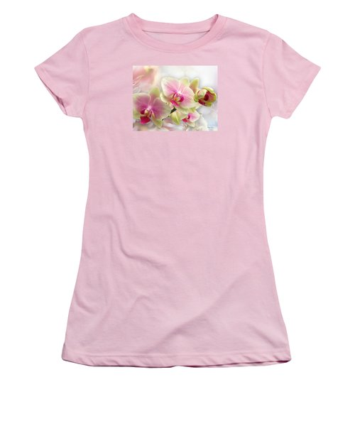 Orchids Women's T-Shirt (Junior Cut) by Morag Bates