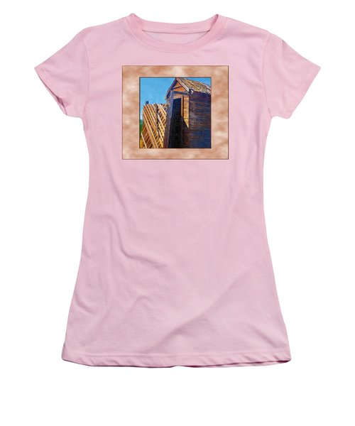 Women's T-Shirt (Junior Cut) featuring the photograph Outhouse 2 by Susan Kinney