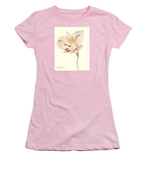 Women's T-Shirt (Athletic Fit) featuring the photograph Pasae Alstroemeria By Flower Photographer David Perry Lawrence by David Perry Lawrence