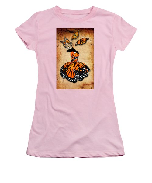 Women's T-Shirt (Athletic Fit) featuring the mixed media Peace Of Mind by Marvin Blaine