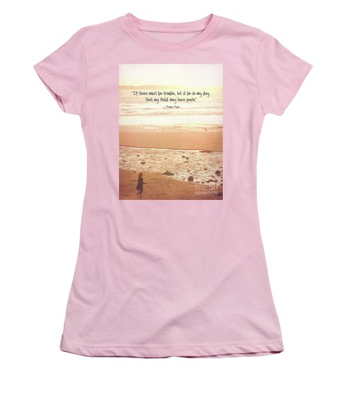 Women's T-Shirt (Athletic Fit) featuring the photograph Peace by Peggy Hughes