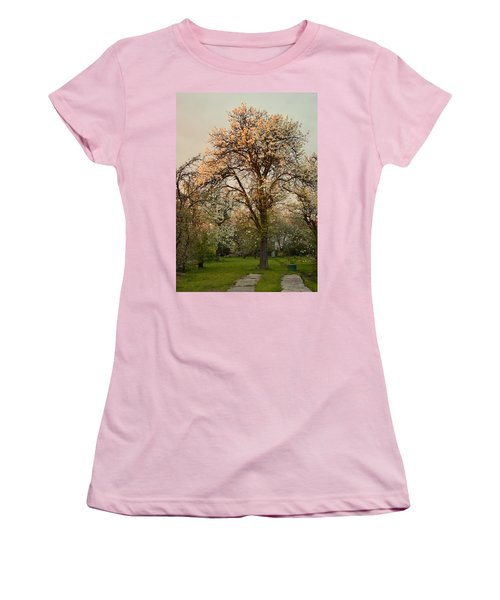 Pear Spring Sunrise Women's T-Shirt (Junior Cut) by Henryk Gorecki