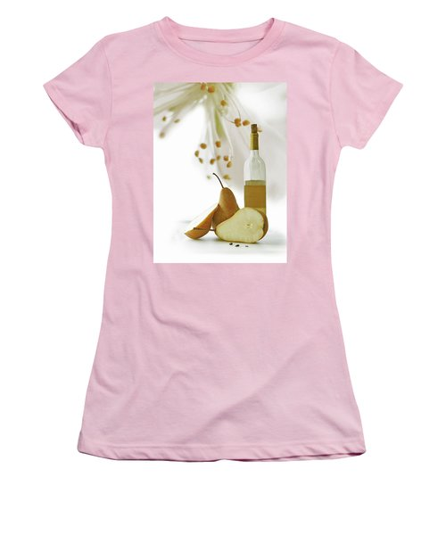 Women's T-Shirt (Junior Cut) featuring the photograph Pears Blossom by Ann Lauwers