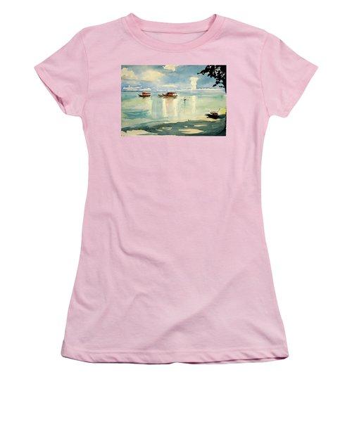 Penang Beach Women's T-Shirt (Junior Cut) by Tom Simmons