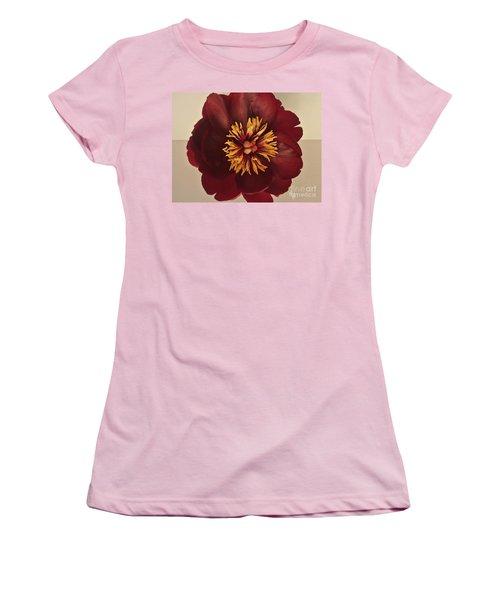 Penny Peony Women's T-Shirt (Junior Cut) by Marsha Heiken