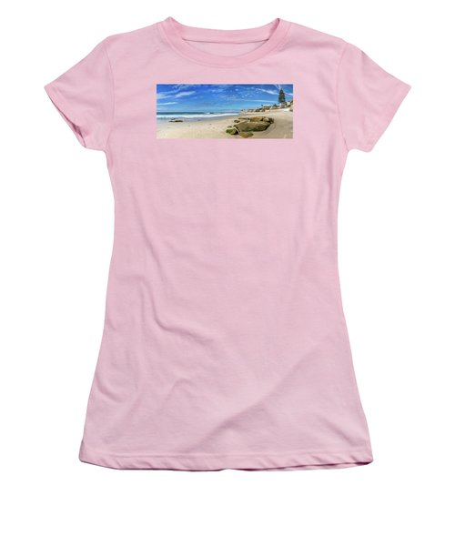 Women's T-Shirt (Junior Cut) featuring the photograph Perfect Day At Horseshoe Beach by Peter Tellone