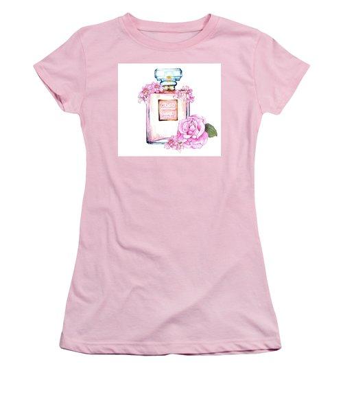 Perfume Florals Women's T-Shirt (Junior Cut) by Heidi Kriel