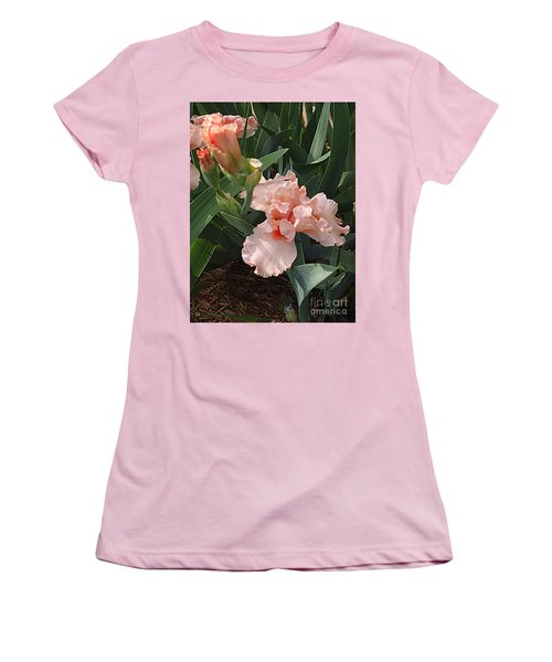 Women's T-Shirt (Junior Cut) featuring the photograph Picture Peach by Nancy Kane Chapman
