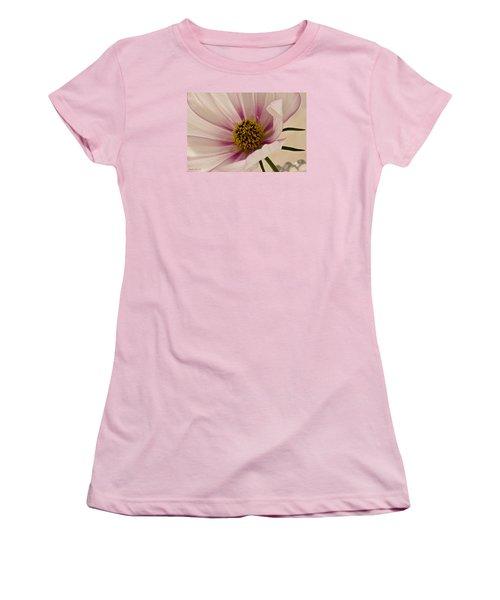 Pink Bi Color Cosmo Macro Women's T-Shirt (Junior Cut) by Sandra Foster