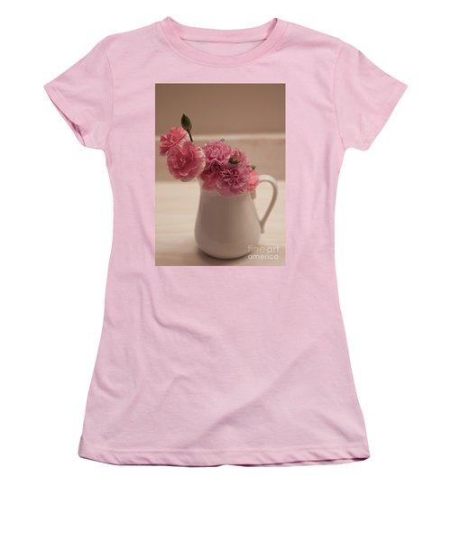 Pink Carnations Women's T-Shirt (Junior Cut) by Sherry Hallemeier