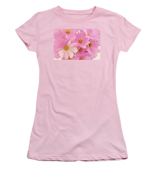 Pink Cosmos Sonata  Women's T-Shirt (Athletic Fit)