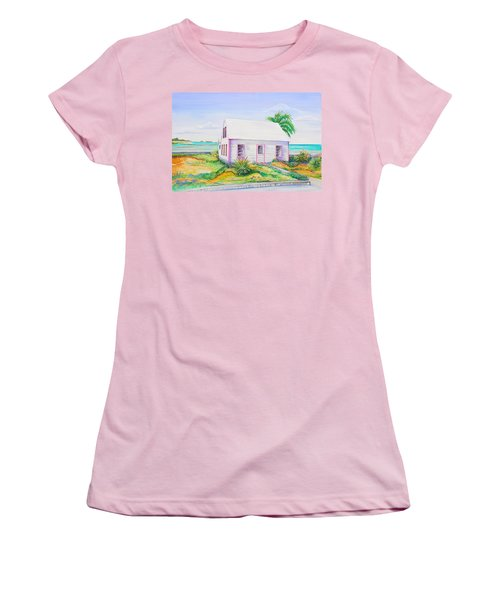 Pink Cottage Women's T-Shirt (Junior Cut) by Patricia Piffath