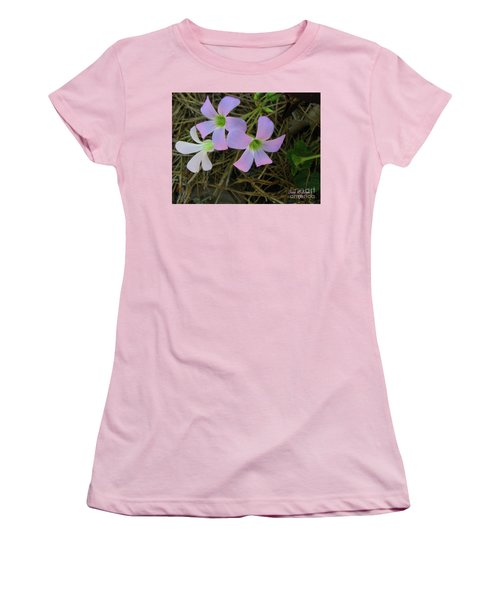 Women's T-Shirt (Junior Cut) featuring the photograph Pink Glow by Donna Brown