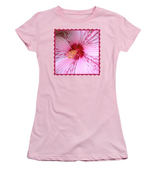 Pink Hibiscus Macro Women's T-Shirt (Athletic Fit)