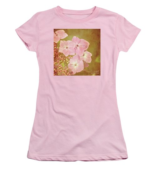 Women's T-Shirt (Junior Cut) featuring the photograph Pink Hydrangeas by Lyn Randle